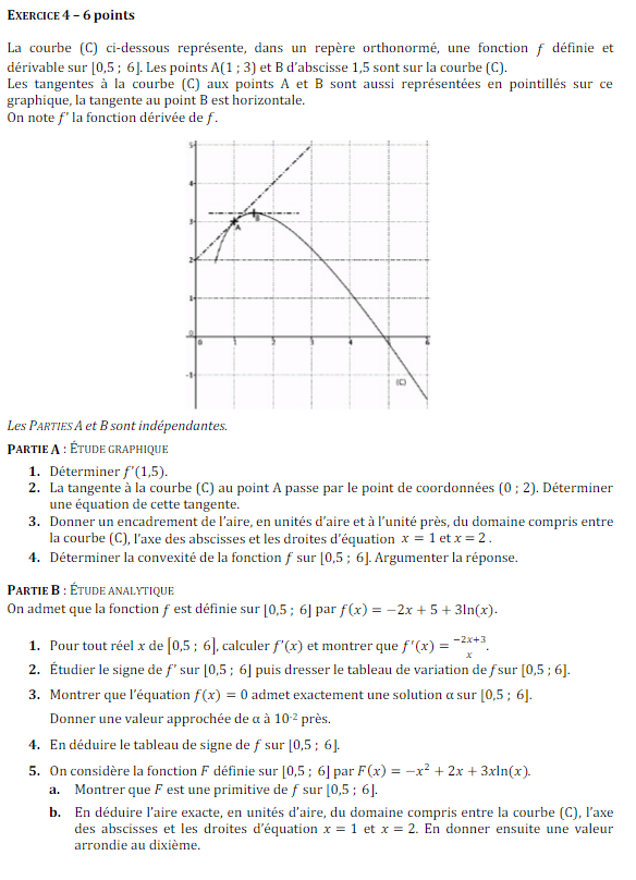 Corrigé bac maths 2016 - Suites géométriques, probabilités ...