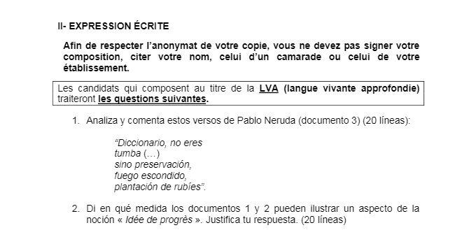 Corrige Bac Espagnol Lv1 2016 Analyse Textes Comprehension De L Ecrit Soutien Scolaire En Ligne Profexpress