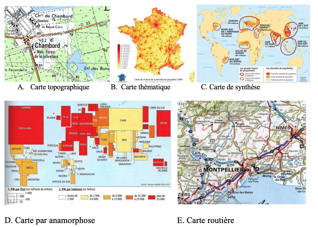 carte de geographie