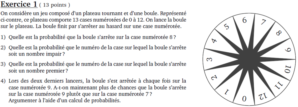 Correction du sujet de maths du brevet Pondichéry 2018
