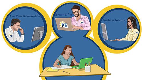 Soutien scolaire en ligne primaire, collège, lycée