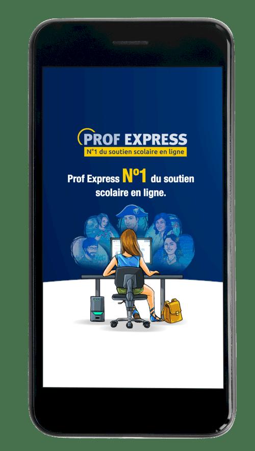 télécharger l'appli de soutien scolaire gratuite de Prof Express